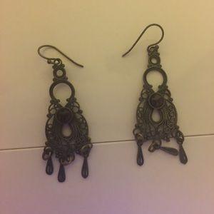 antique looking earrings sterling silver